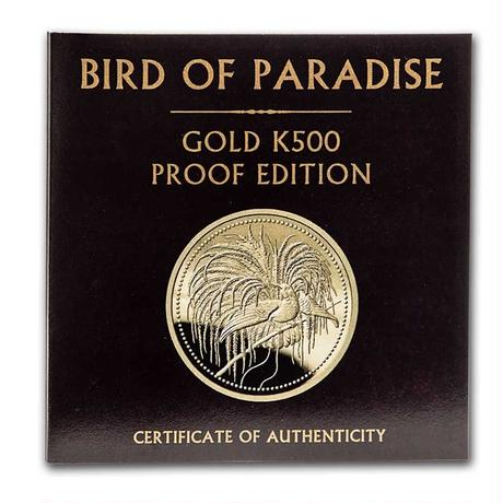 【PCGS PR70DCAM確定品】2020 パプアニューギニア 極楽鳥 500キナ 1オンス 金貨 ゴールドコイン Papua New Guinea Bird of Paradise