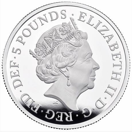 2oz Completer版 2021 クイーンズビースト 2オンス 5ポンド銀貨 プルーフコイン シルバー Royal Mint QUEEN'S BEASTS Silver coin