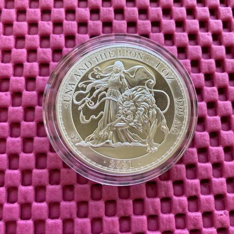 BU版 ウナとライオン 2021年 セントヘレナ 1オンス銀貨 シルバー コイン Una Lion silver coin Brilliant Uncirculated