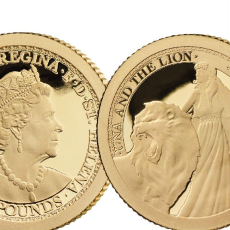 ウナとライオン 2020年 セントヘレナ 1/2グラム金貨 プルーフコイン 東インド会社 イギリス 英国 アンティークコイン Una Lion