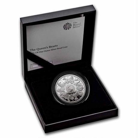 コンプリート版 2021 クイーンズビースト 1オンス 2ポンド銀貨 シルバー プルーフコイン QUEEN'S BEASTS COMPLETER 1oz Silver coin