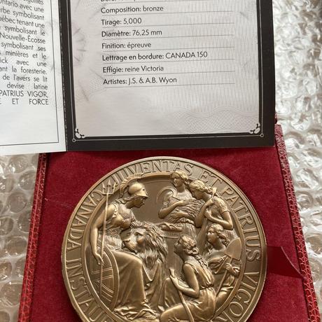 カナダのウナとライオン ブロンズメダル 銅 2017 建国150周年記念 1867年コンフェデレーション 専用ケースあり CANADA Una Lion