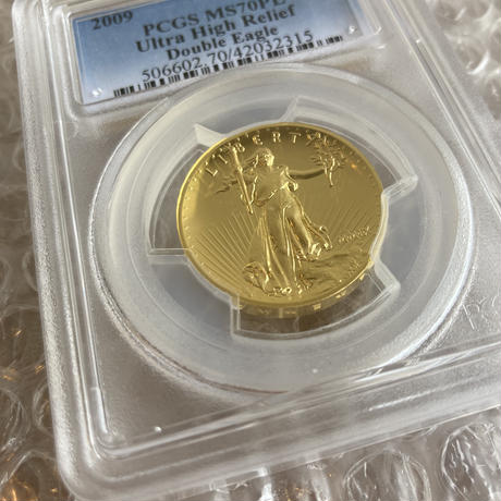 【PCGS MS70PL】2009年 ウルトラハイレリーフ金貨 コイン プルーフライク セントゴーデンス ゴールド ダブルイーグル ULTRA HIGH RELIEF gold coin