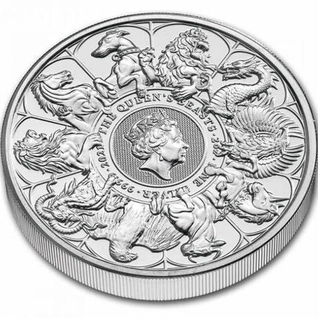 【7月末発送予定】BU版 コンプリーター・最終版 2021 クイーンズビースト 2オンス銀貨 シルバーコイン QUEEN'S BEASTS COMPLETER 2oz Silver coin BU
