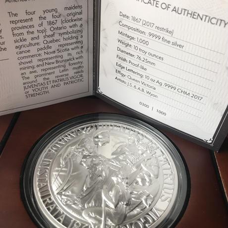 プルーフライク版 カナダのウナとライオン 10オンス シルバーメダル 銀 2017 建国150周年記念 1867年コンフェデレーション 専用ケースありCANADA Una Lion