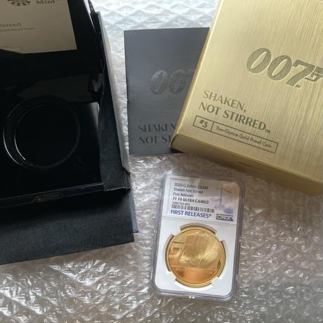 特別掲載商品 【PF70UC+FR】007 ジェームズボンド 2オンス金貨 200ポンド金貨 第3貨 プルーフコイン ゴールド 2020 イギリス ロイヤルミント James Bond