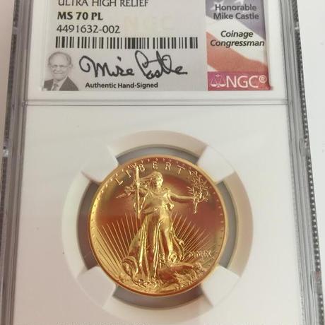 【マイク・キャッスル サイン】NGC MS70PL 2009年 ウルトラハイレリーフ金貨 コイン プルーフライク セントゴーデンス ゴールド ダブルイーグル ULTRA HIGH RELIEF