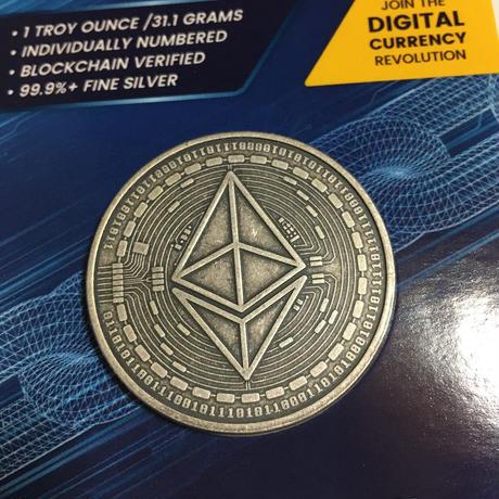 イーサリアム モチーフ チャド共和国 CFAフラン アンティーク版 1オンス 銀貨 シルバー クリプトコイン 仮想通貨 暗号通貨 Chad Crypto Coins Series Ethereum