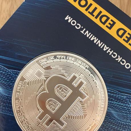 ビットコイン チャド共和国 CFAフラン 1オンス 銀貨 シルバー クリプトコイン 仮想通貨 暗号通貨 Chad Crypto Coins Series Bitcoin
