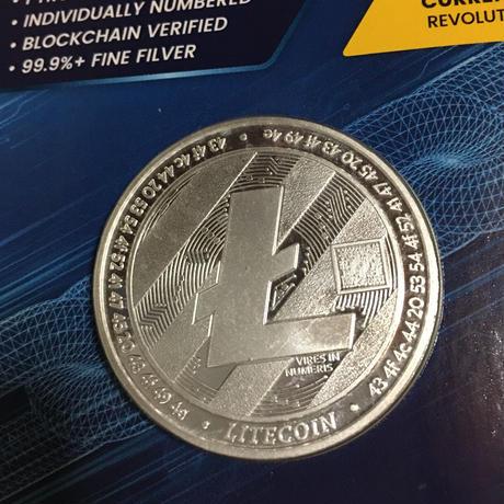 ライトコイン モチーフ チャド共和国 CFAフラン プルーフ版 1オンス 銀貨 シルバー クリプトコイン 仮想通貨 暗号通貨 Chad Crypto Coins Series  Litecoin
