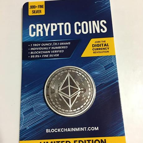 イーサリアム モチーフ チャド共和国 CFAフラン プルーフ版 1オンス 銀貨 シルバー クリプトコイン 仮想通貨 暗号通貨 Chad Crypto Coins Series Ethereum