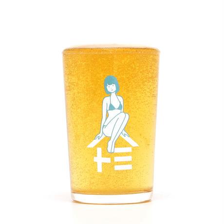 ウエトミ × 白根ゆたんぽ ビールグラス (小)