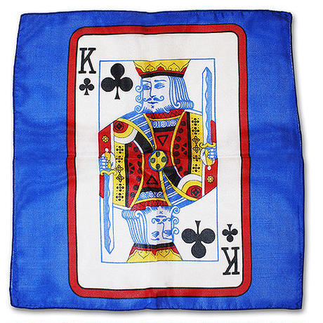 60cm角カードシルク(青ベース)