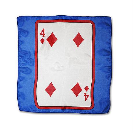 30cm角カードシルク(青ベース)
