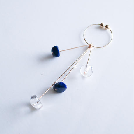 【夏限定カラー】DROP Earring THREE  LIMITED BLUE