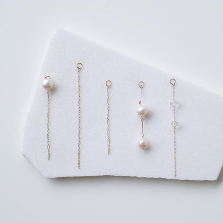 COM PEARL ONE EARRING PARTS
