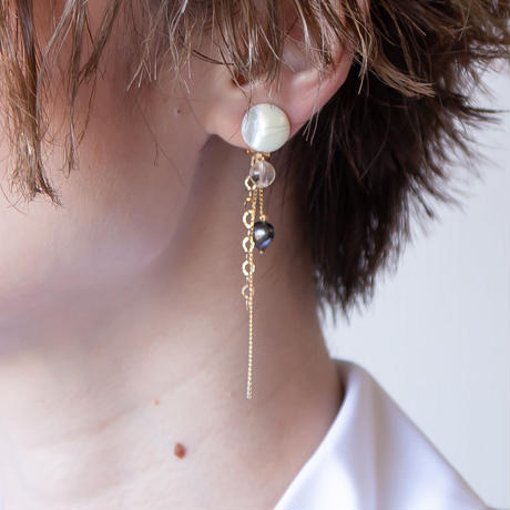 SHIGUSA LONG Earring BLACK