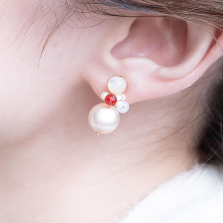 PIPI EARRING RED