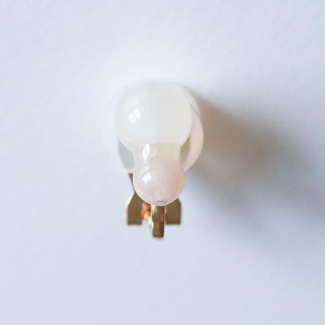 Grape Maru Earring  WHITE x PINK