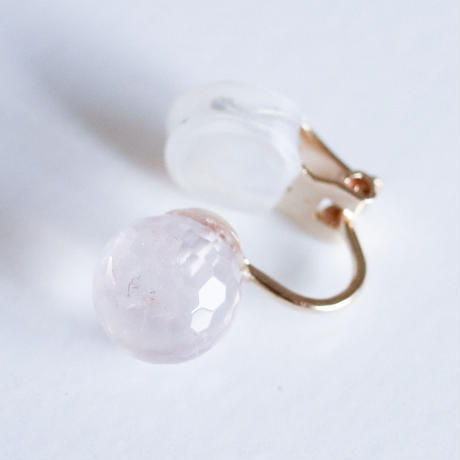 Maru Earring CUT Rose Quarts
