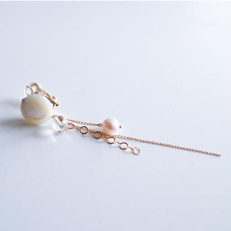 SHIGUSA LONG Earring WHITE
