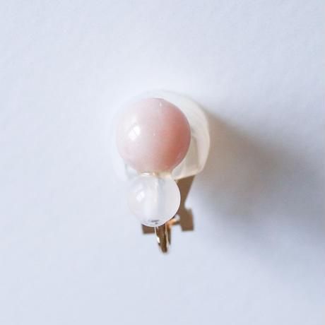 Grape Maru Earring  PINK x WHITE