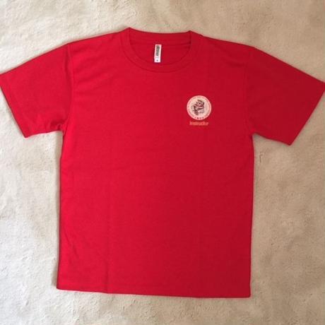 Tシャツ ラッシュガード柄 赤(半袖)