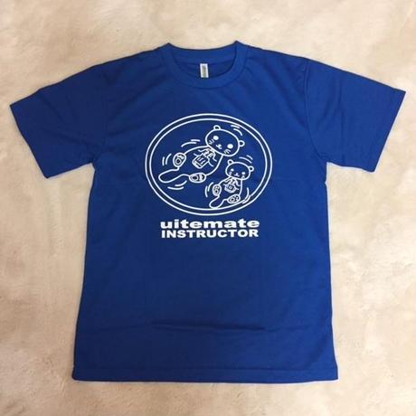Tシャツ ラッコ柄前 青(半袖) サイズ3L