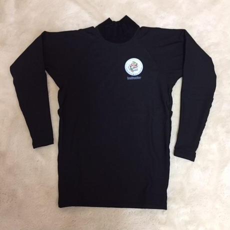 ラッシュガード厚手生地 黒(長袖) サイズ3L