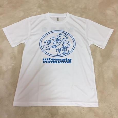 Tシャツ ラッコ柄前 白(半袖)