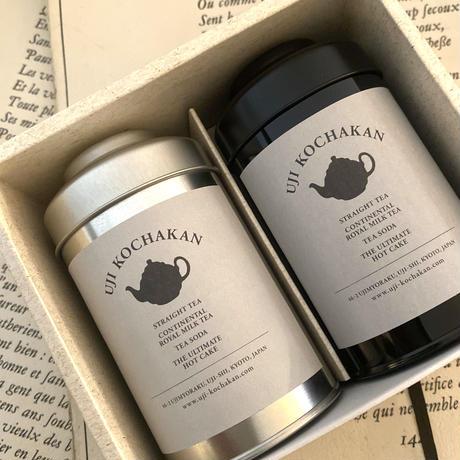 茶葉缶 Lサイズ 2本ギフトセット