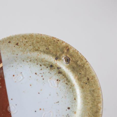 サイネンショー_白皿に自然釉+GOLD