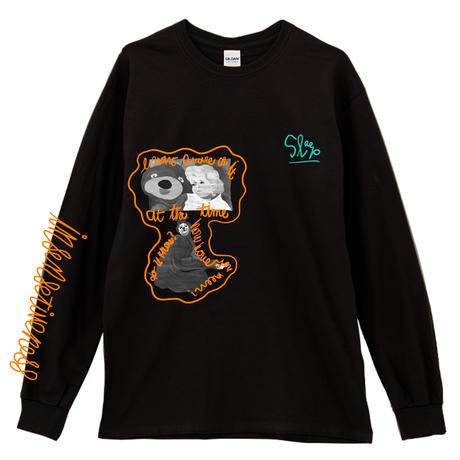 THE_SHINING_BEAR_Long Sleeve Tee / BLACK