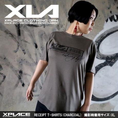 【XLA】RECEIPT T-SHIRTS (チャコール)