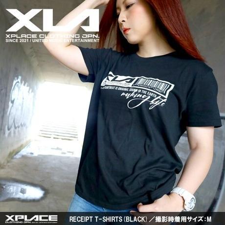 【XLA】RECEIPT T-SHIRTS (ブラック)