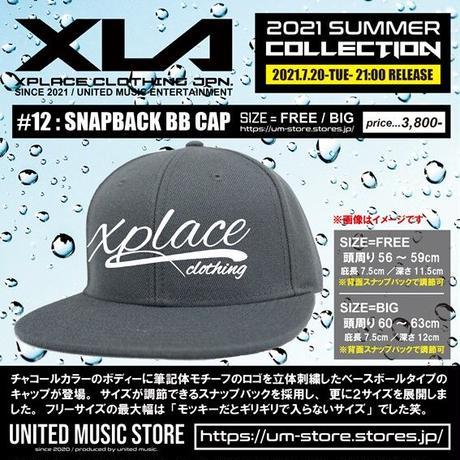 【XLA】SNAPBACK BB CAP