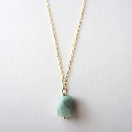 【UN061】 Jadeite  Necklace 14KGF(ジェダイト  ネックレス )