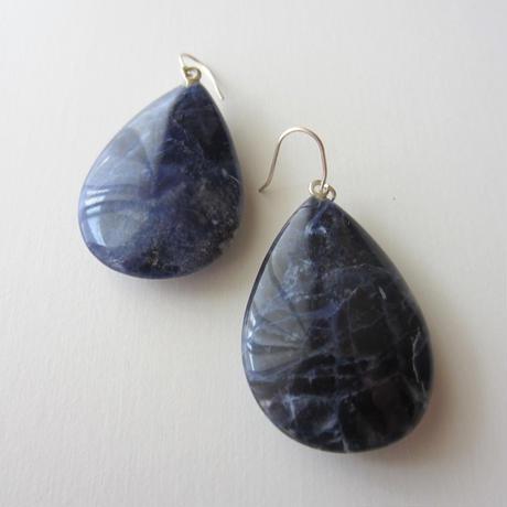 【UE099】Sedona Sodalite Earring Silver(セドナソーダライトピアス)