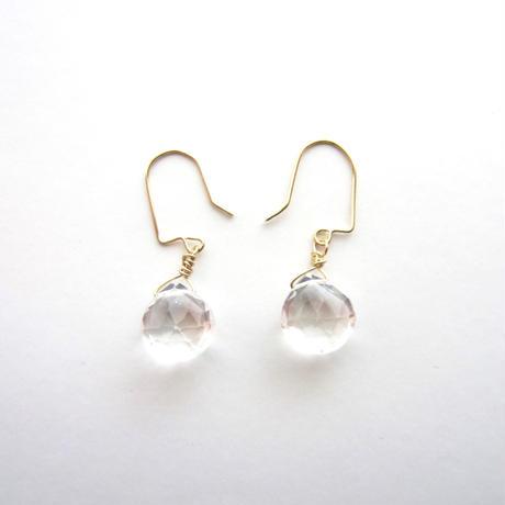 【UE066】Crystal Marron Brilliant Earring 14KGF(クリスタルマロンブリリアントピアス)