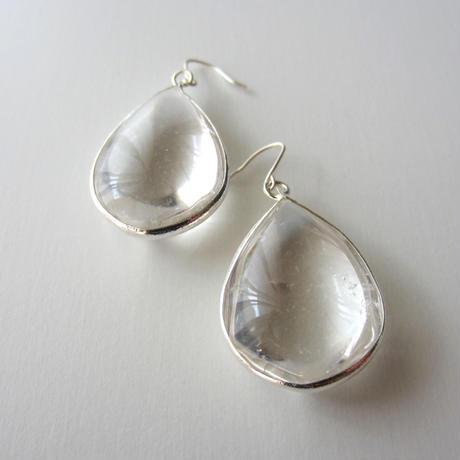 【UE098】Sedona Crystal Tear Earring  Silver(セドナクリスタル ティアピアス)