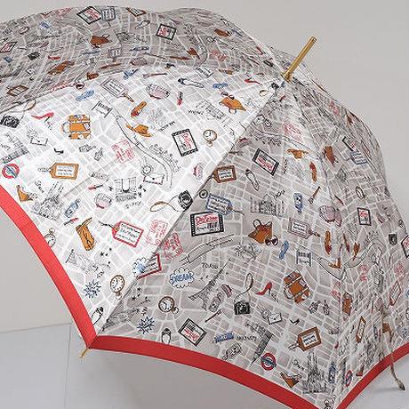 S0499 Kanematsu 銀座 かねまつ 高級傘 USED超美品 Day Tripper 60cm 中古 ブランド