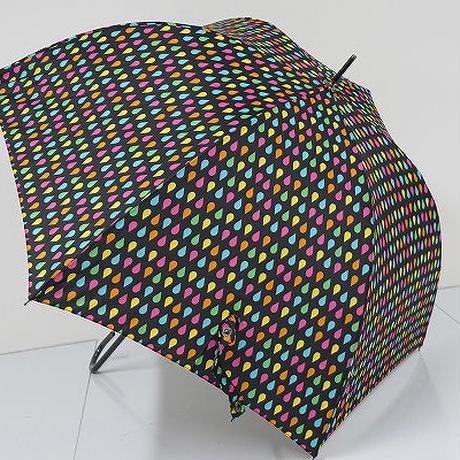 B9785 totes トーツ 晴雨兼用傘 USED極美品 スレンダーマニュアルスティック カラフルドロップ UV98%cut 60cm 中古 ブランド