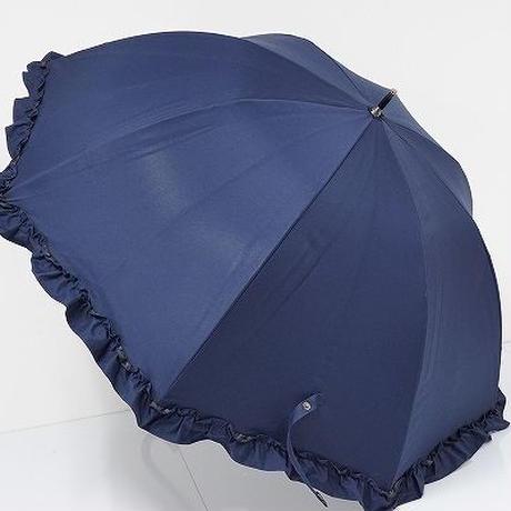 S0306 芦屋 ロサブラン 完全遮光日傘 USED美品 ラージフリル UV 60cm 遮熱 中古 ブランド