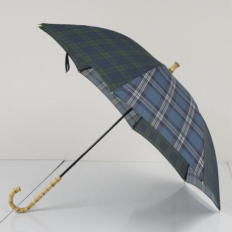 BEAMS BOY ビームスボーイ 傘 USED美品 チェック グリーン 寒竹手元 50cm KR A5444