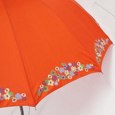 Sybilla シビラ 12本骨傘 USED美品 フラワープリント 小花 多間 グラス骨 55cm KR A5442