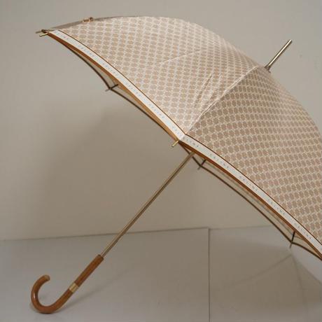 S3551 CELINE セリーヌ 高級傘 USED美品 ジャガードマカダム&ボーダー 60cm 絶版