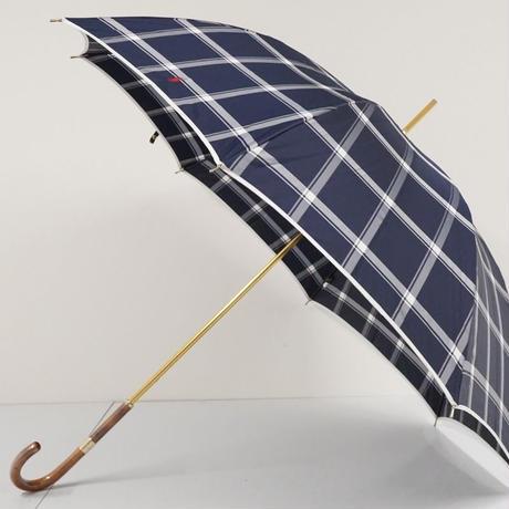 Polo Ralph Lauren ラルフローレン 傘 USED美品 格子柄 ネイビー ポロ刺繍 高級 60cm 中古 ブランド S2508