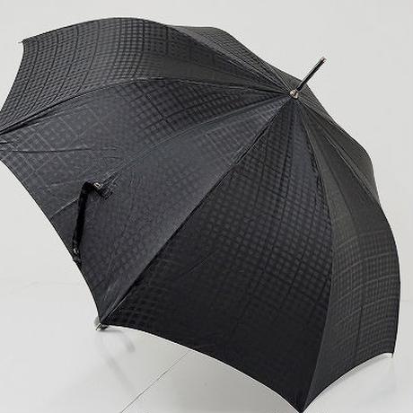 A9478 DAKS ダックス 紳士傘 USED極美品 ジャガードチェック 大判65cm 中古 ブランド