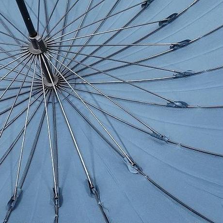 A9796 mabu マブ 超軽量24本骨傘 USED美品 総グラス インディゴブルー 男女兼用 60cm 中古 ブランド