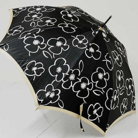 A9481 HANAE MORI ハナエモリ 傘 USED美品 アートフラワー イラスト 58cm 中古 ブランド